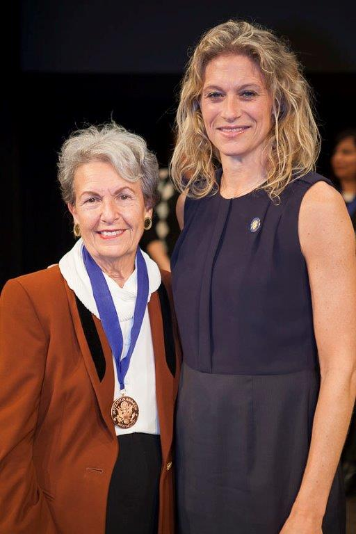 Jan Miller Collects Her Medal at the Jefferson Award Ceremony